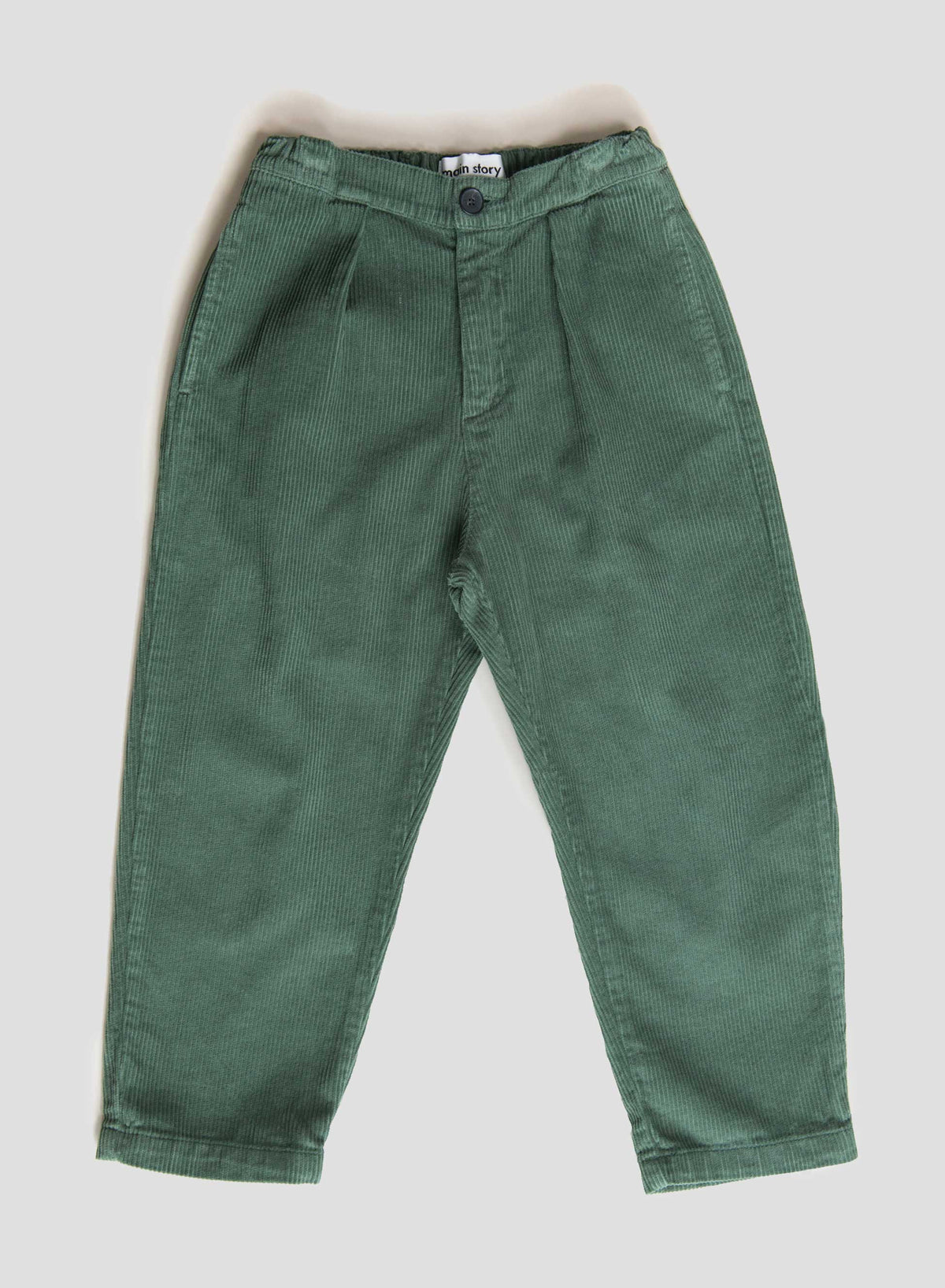 Duck Green Cord Pleat Pant