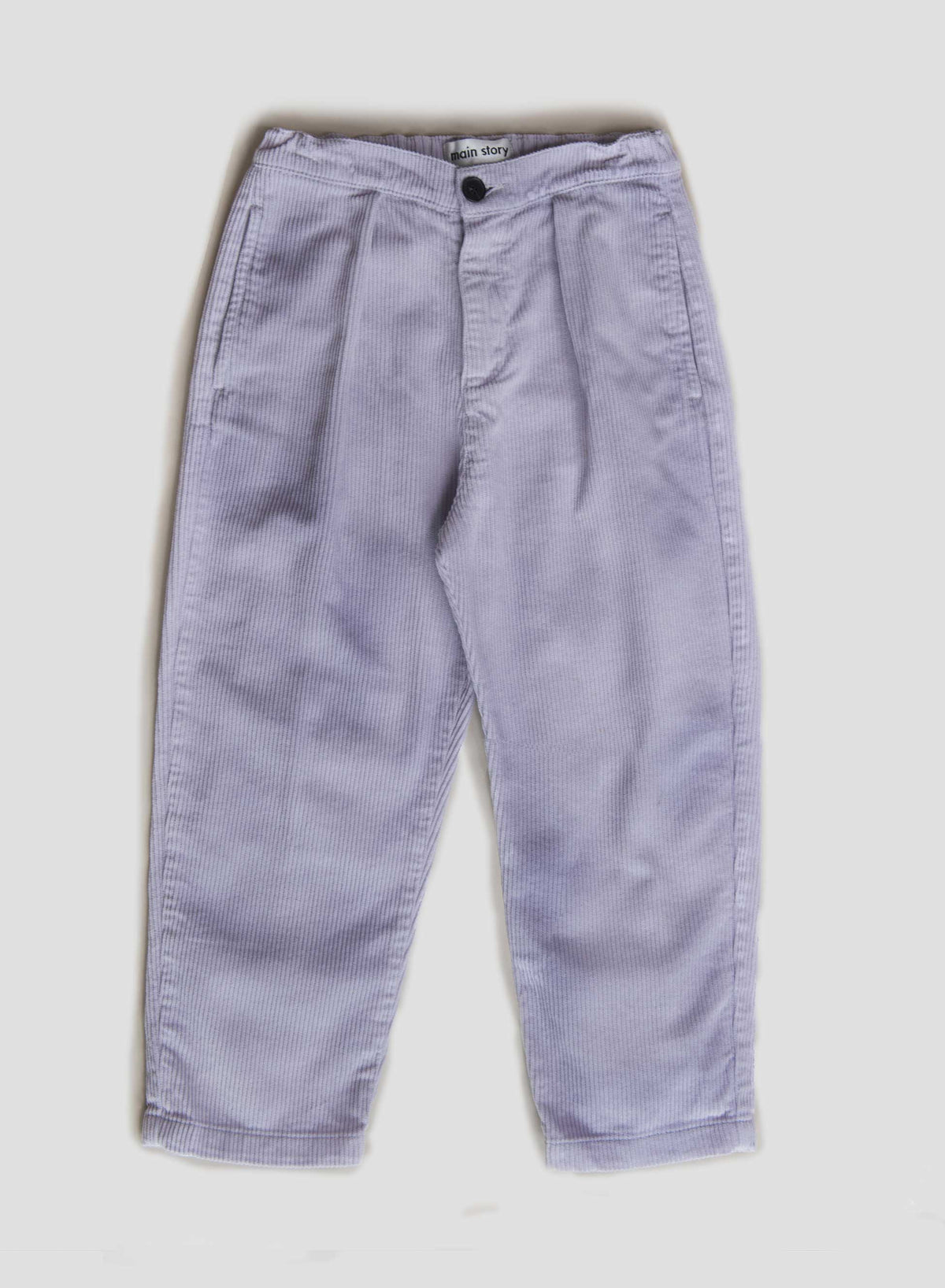 Dusty Lilac Cord Pleat Pant