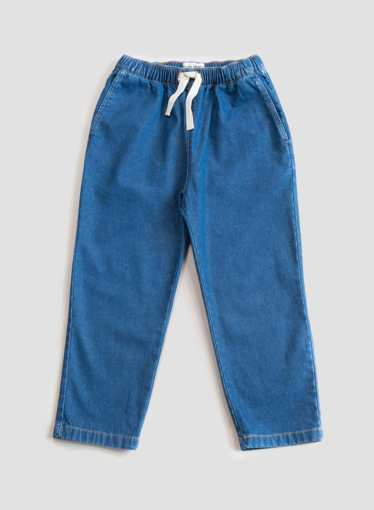 Mid Blue Denim Relaxed Pant