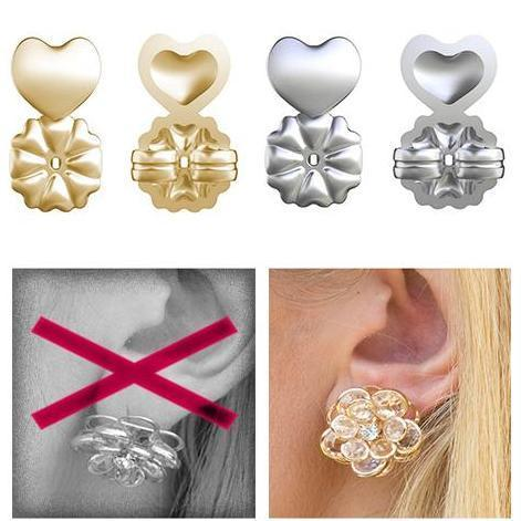 18K Gold Hypoallergenic Support Earring Backs