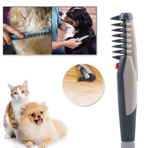 The electric pet grooming comb
