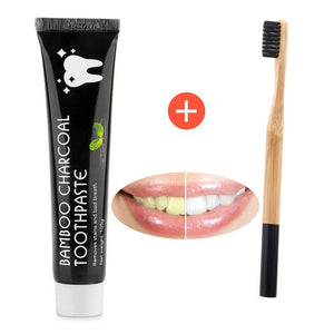Natural Teeth Whitening Toothpaste Bamboo Carbon Charcoal Coco - DEALS EveryTime