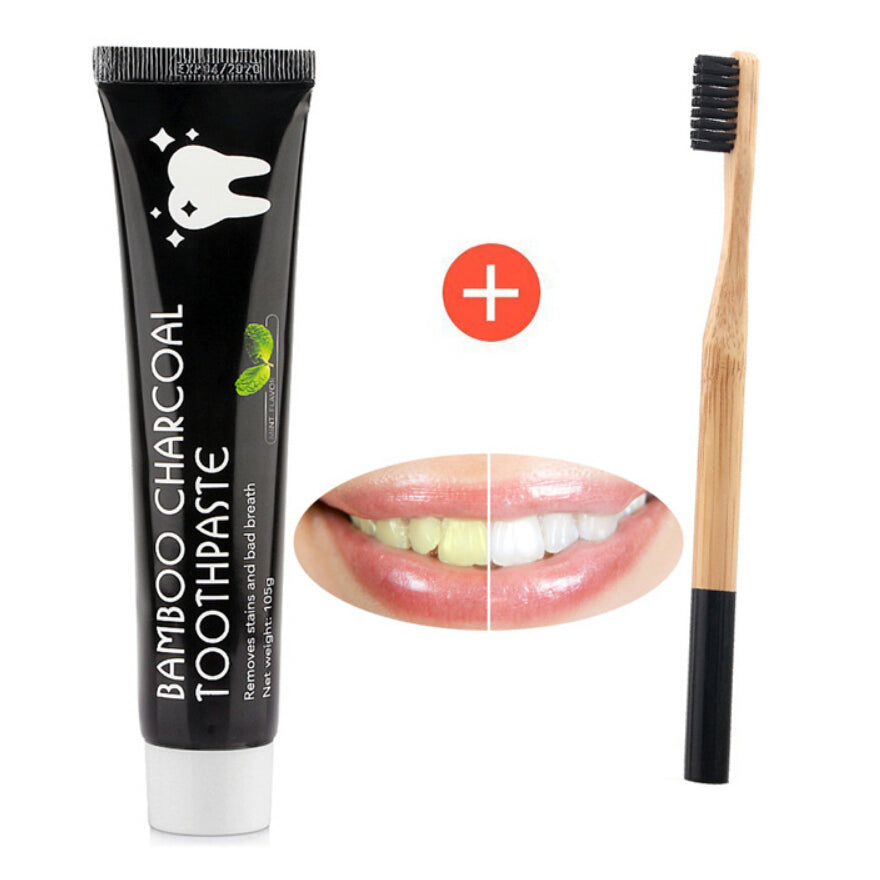 Natural Teeth Whitening Toothpaste Bamboo Carbon Charcoal Coco
