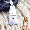 customized pet photo engraved necklace handmade sterling silver for pet owner