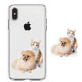 customized 3D pet portrait TPU phone case