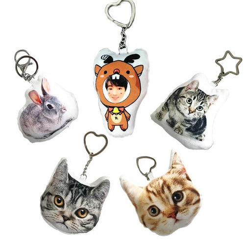 customized 3D pet portrait double printed keychain