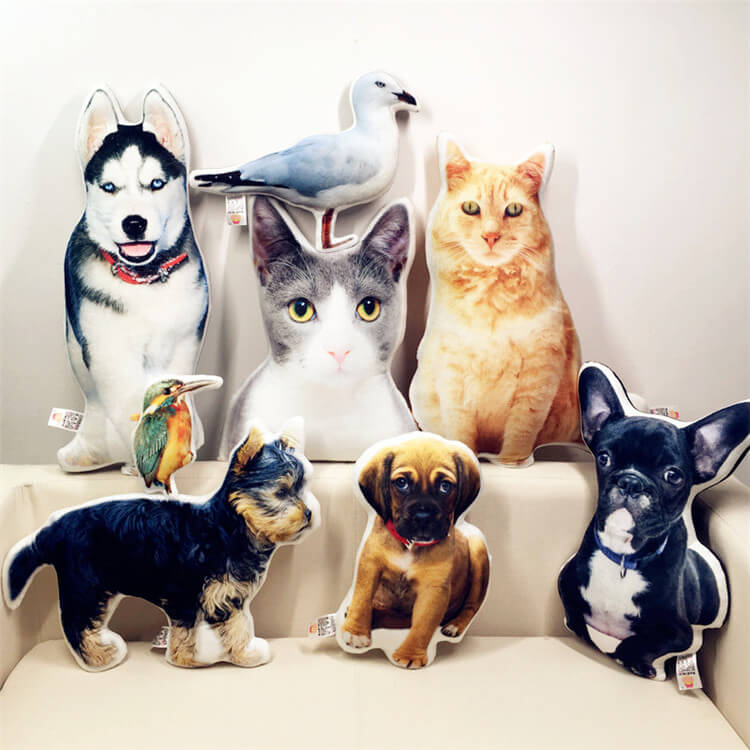 30334392bab27 Personalized 3D Pet Photo Double Sided Pillow