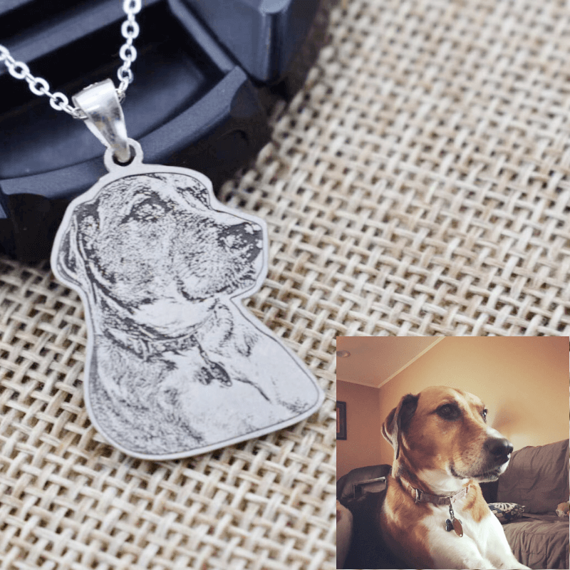 Personalized Handmade Sterling Sliver Pet Photo Necklace