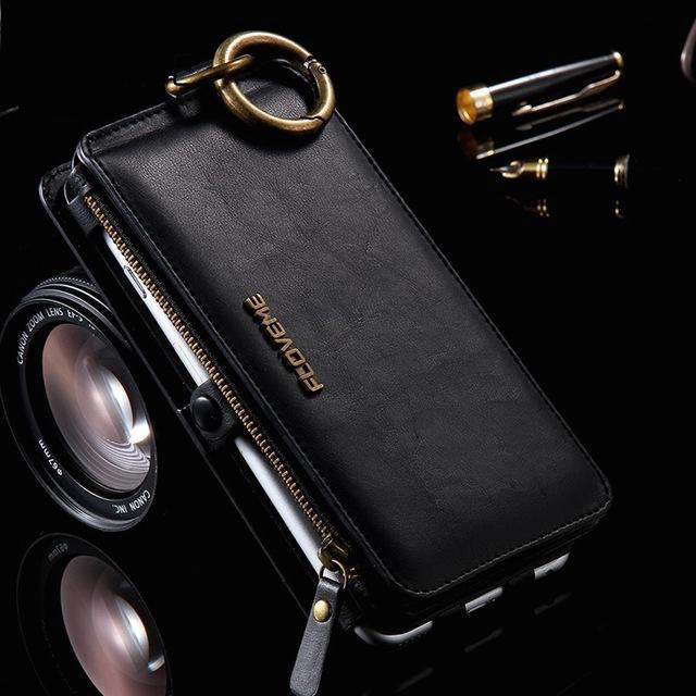 Luxury Retro Leather Wallet Case For Iphone and Samsung