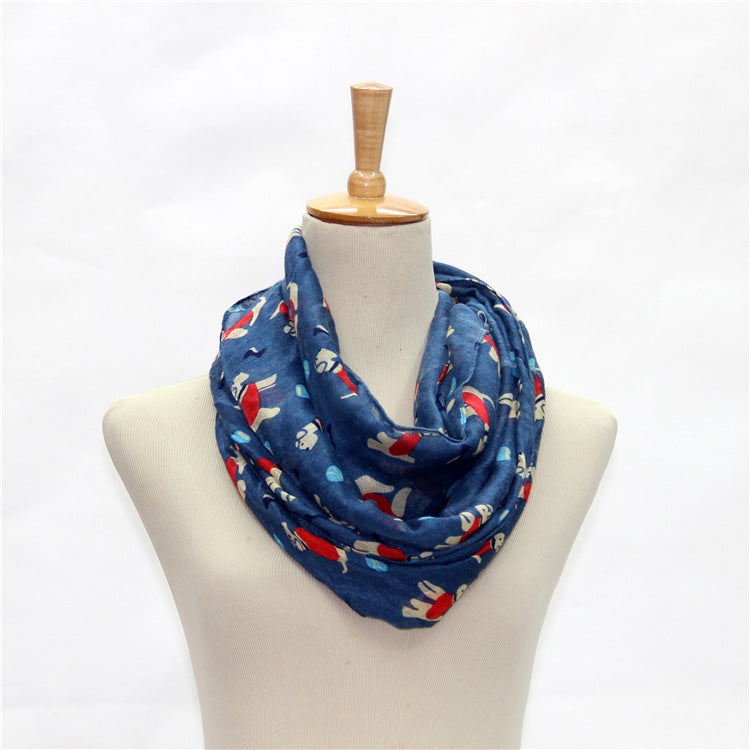 Women's puppy design winter Scarf