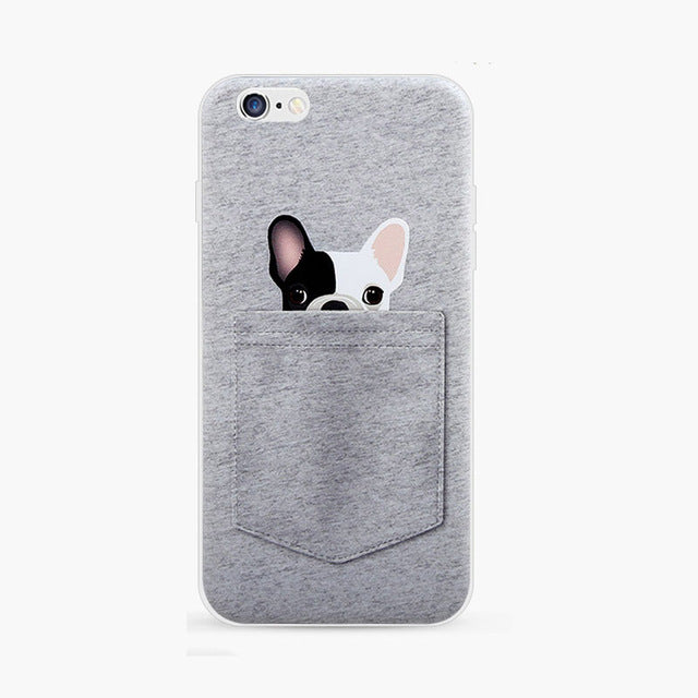 3D Pocket Dog Silicone Phone Case for Iphone 7 7plus