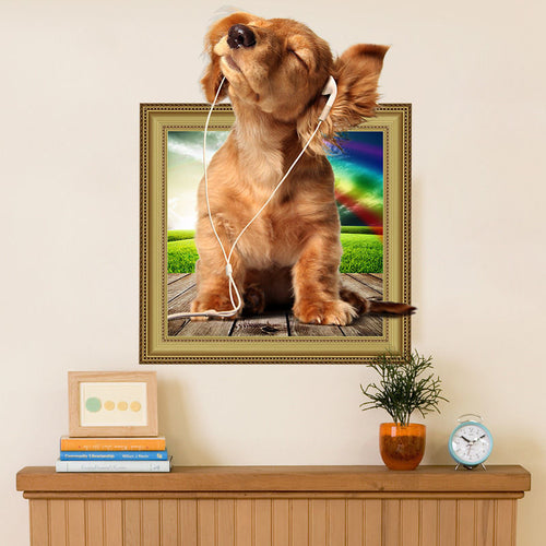 3D Dog Wall Stickers