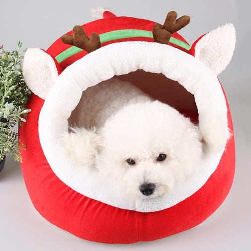 Christmas Dog Bed
