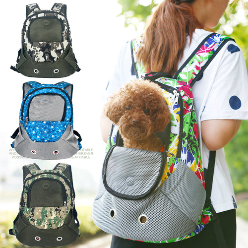 Dog Travel Carrier Shoulders Back Bag (Adjustable Shoulder Strap)