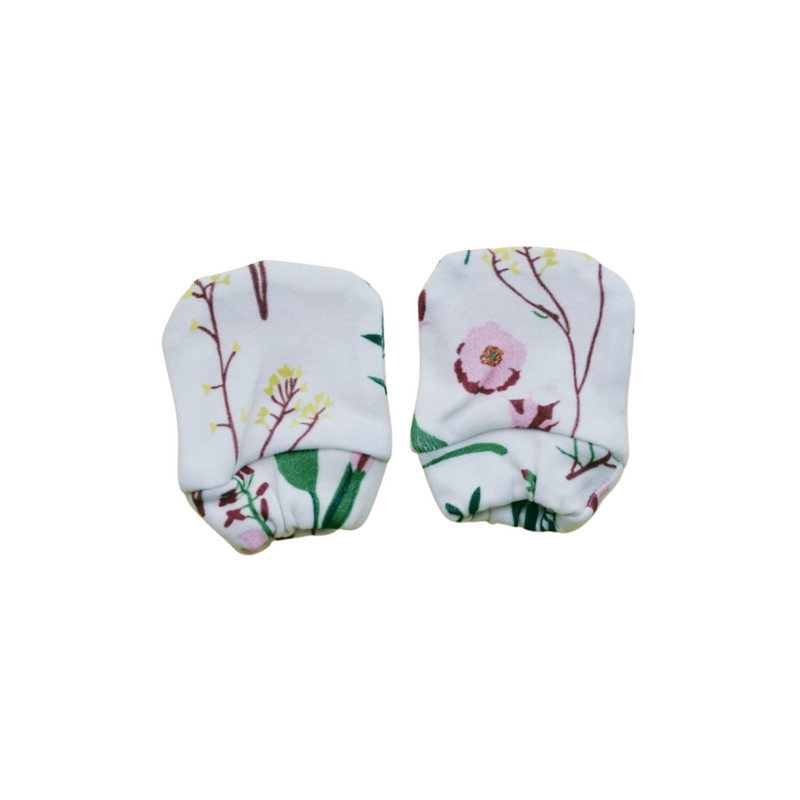 Organic Cotton Mittens - Wild Flower