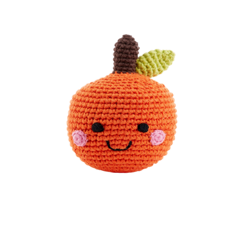 Friendly Fruit Rattle - Orange
