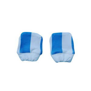 Organic Cotton Mittens - Blue Stripes