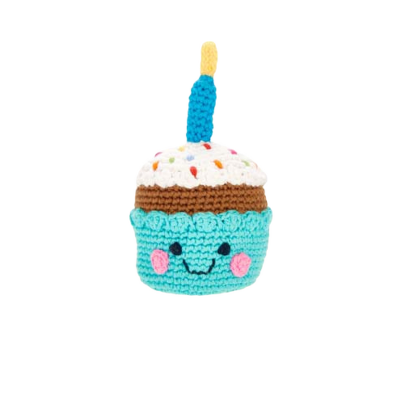 Friendly Cupcake Rattle - with candle