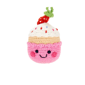 Friendly Cupcake Rattle - with strawberry