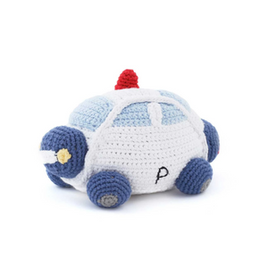 Blue Police Car Rattle