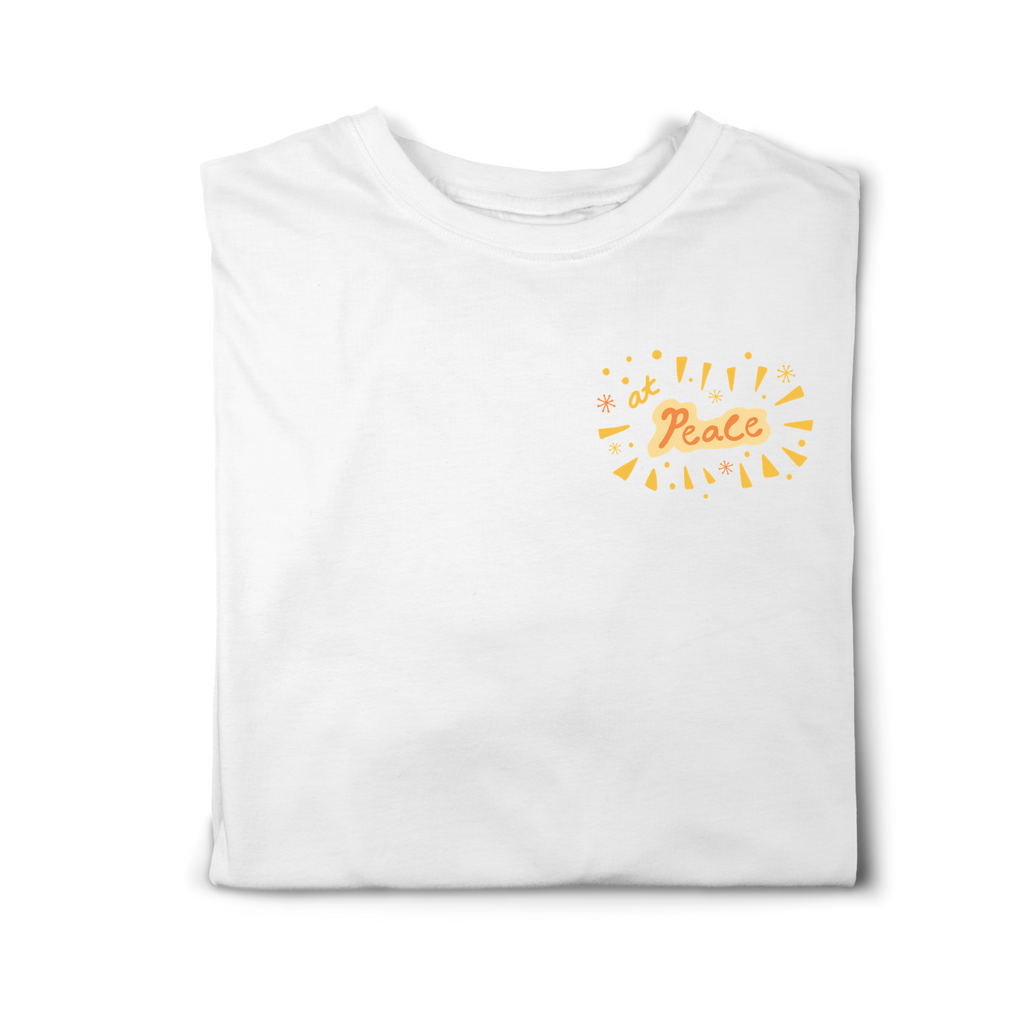 At Peace Adult Tees (White/Daisy)