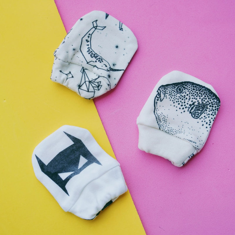 Organic Cotton Mittens - Super Hero