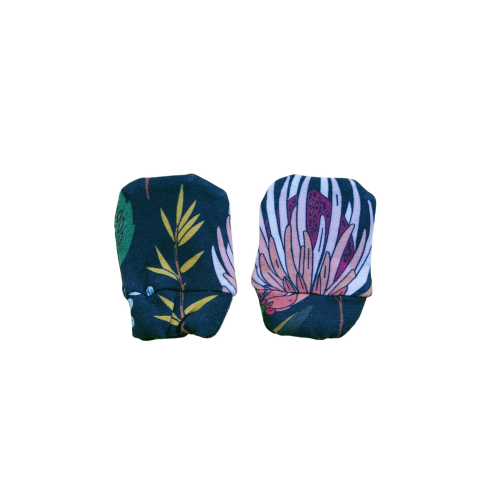 Organic Cotton Mittens - Floral Study