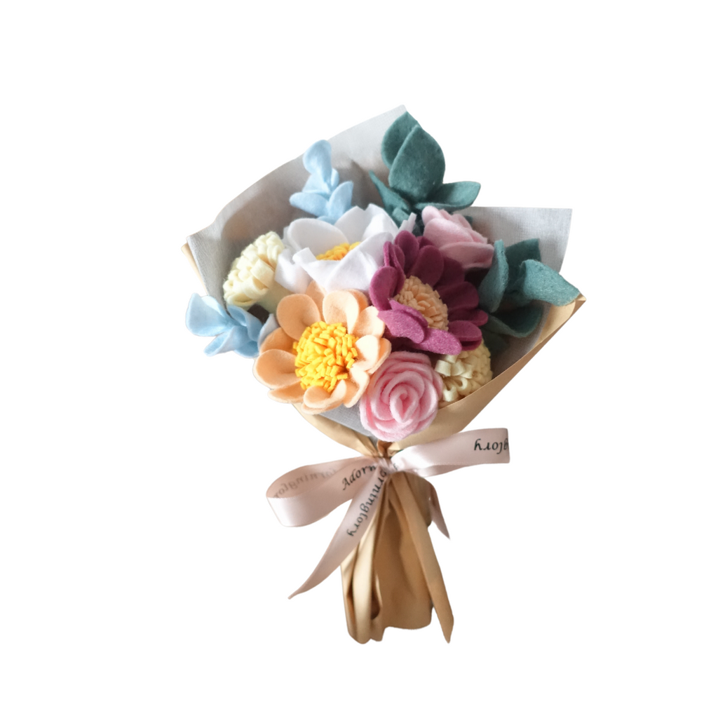 Pastel Blooms Felt Bouquet