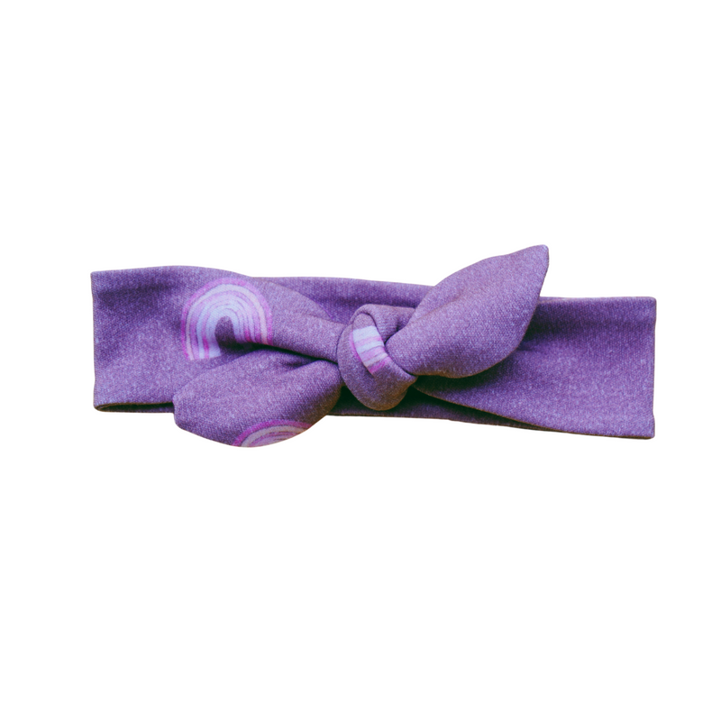 Organic Cotton Headbands - Purple Rainbow