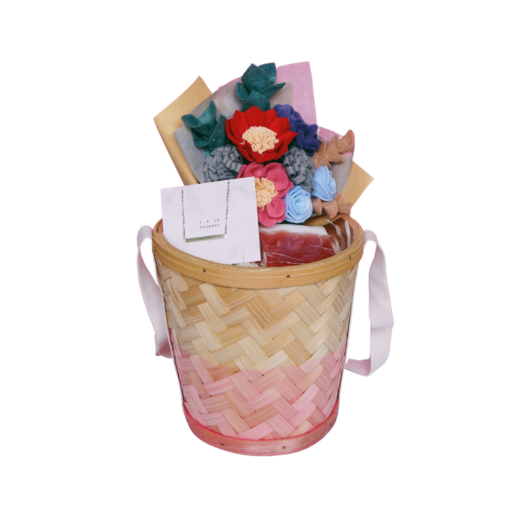Floral Gift Basket - Beloved