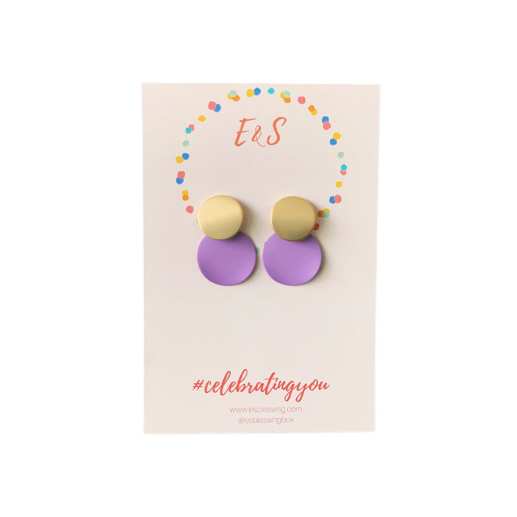 E&S Clay Earrings - Lilac