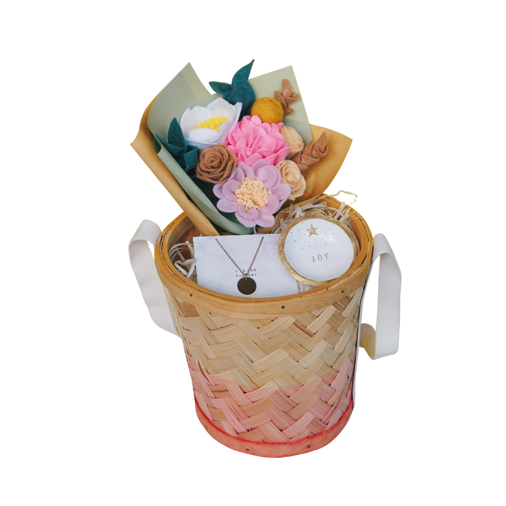 Floral Gift Basket - Joy
