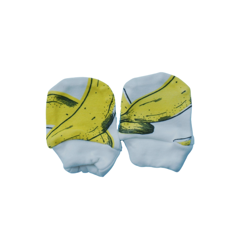 Organic Cotton Mittens - Banana