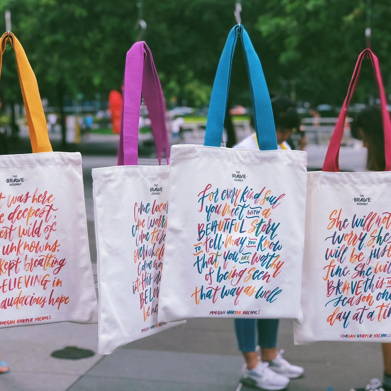 EN:COURAGE Tote Bag by Brave Assembly