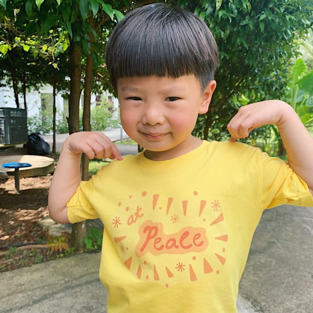 At Peace Kids Tees (White/Daisy)