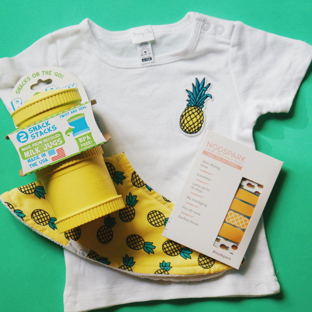 Festive Pineapple Mother & Baby Bag