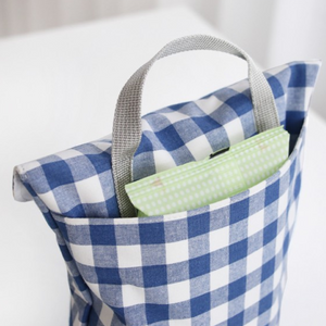 Mini Diaper Bag -  Blue Checks