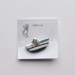 New! Boat- Mark 4:39 Clay Pin