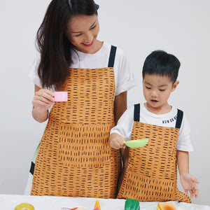 Orange Stripes Aprons for Her + Twinning Sets