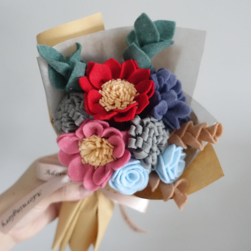 Midnight Blooms Felt Bouquet