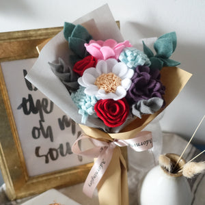 Rouge Blooms Felt Bouquet