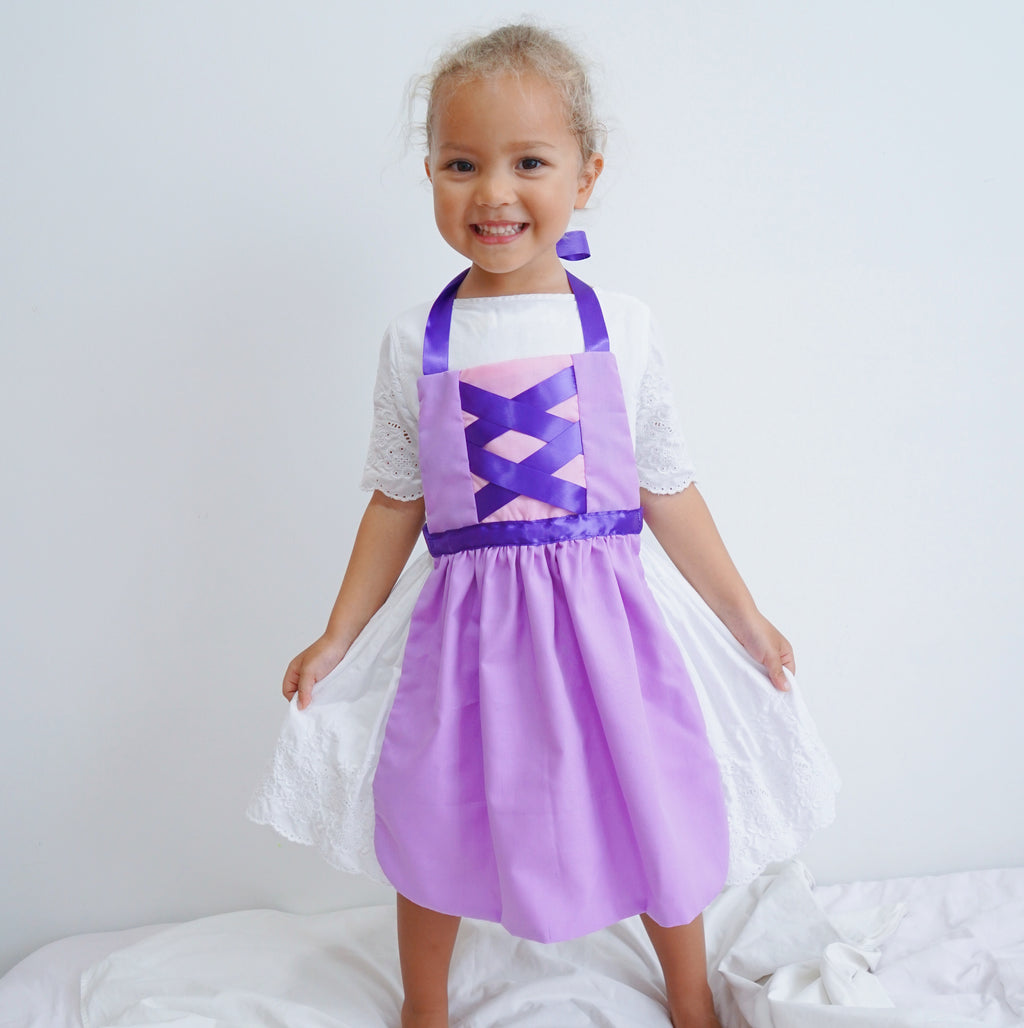 Kids Princess Aprons - Rapunzel Inspired