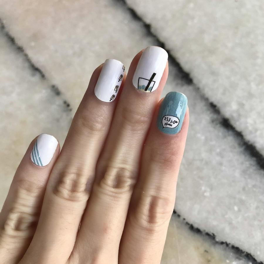 Bubble Tea Goodness Nail Art