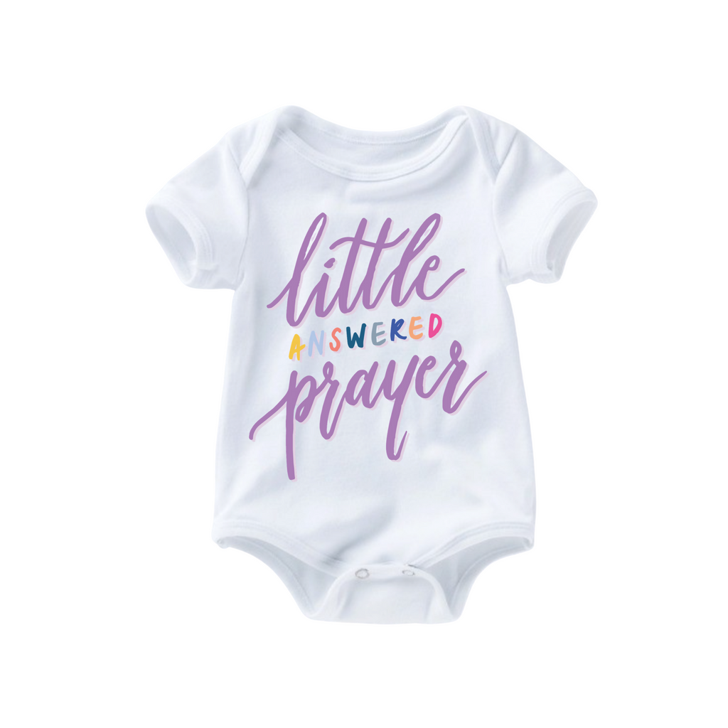 Little Answered Prayer Romper - Lilac