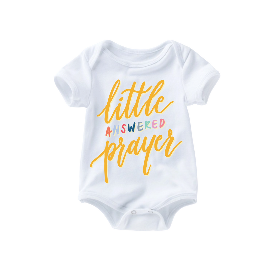 Little Answered Prayer Romper - Yellow