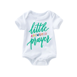 Little Answered Prayer Romper - Teal
