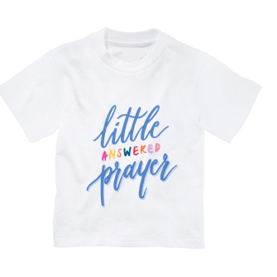 Little Answered Prayer Tee (Blue/Peach)