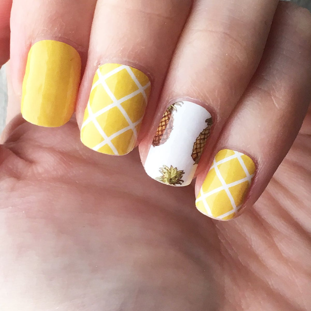 Lucky Pineapple Nail Art