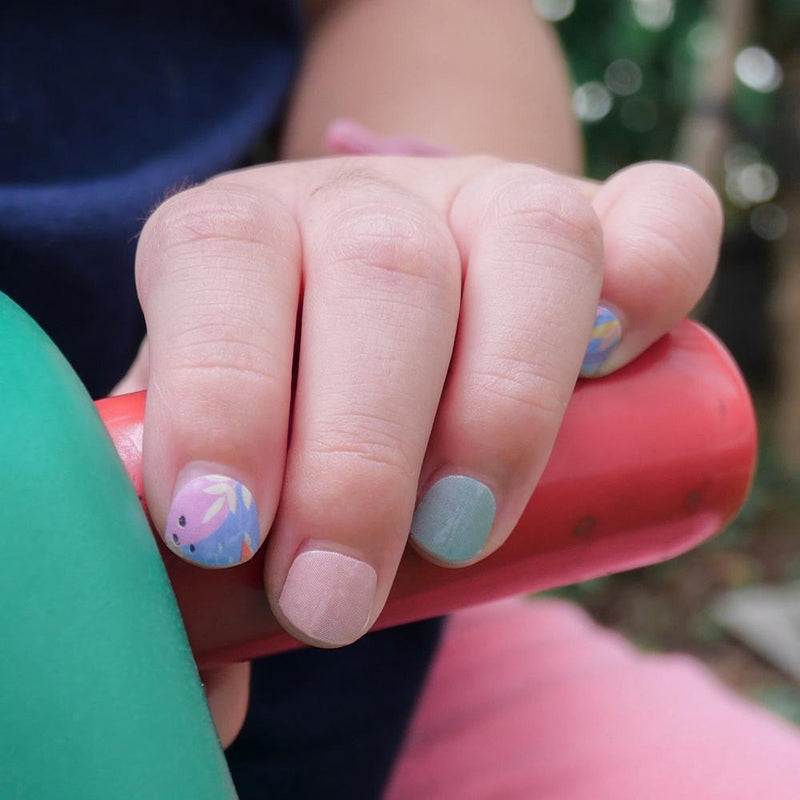 Poppy Blooms Kids Nail Art