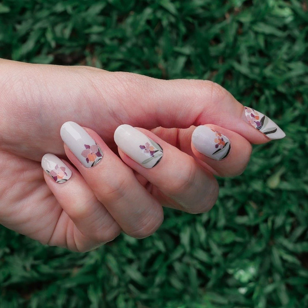 Orchids in your Window Nail Art